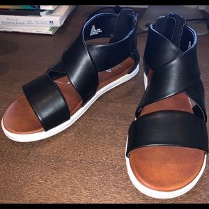 MIA Black Sandals.